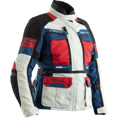 Veste textile femme RST Adventure CE glace/bleu/rouge