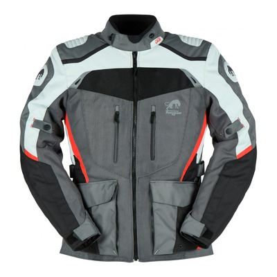 Veste textile Furygan Apalaches vented noir/gris/rouge