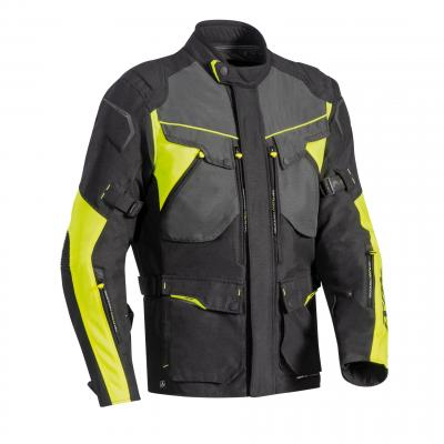 Veste textile Ixon Crosstour HP noir/gris/jaune fluo