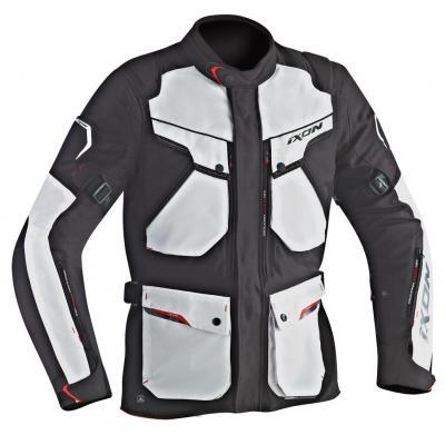 Veste textile Ixon CROSSTOUR HP noir/gris