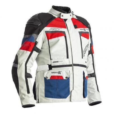 Veste textile RST Adventure-X Airbag Ice/bleu/rouge
