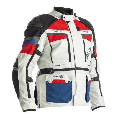 Veste textile RST Adventure-X Ice/bleu/rouge