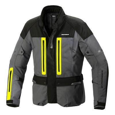 Veste textile Spidi Traveler 3 H2Out jaune fluo/gris/noir
