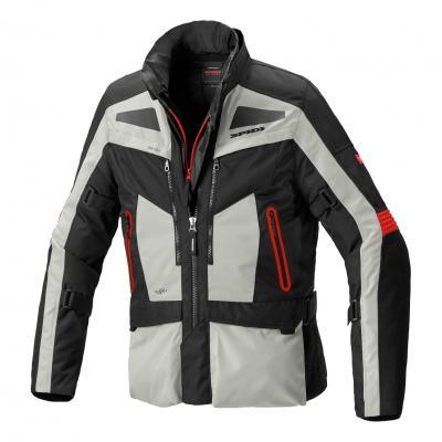 Veste textile Spidi Voyager Evo glace/rouge/noir