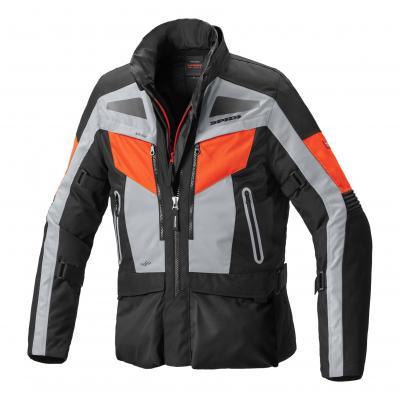 Veste textile Spidi Voyager Evo rouge fluo/gris/noir