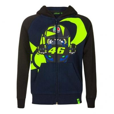 Veste zip enfant VR46 Motina test sweat à capuche bleu