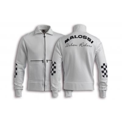 Veste Zip Malossi Riders blanche