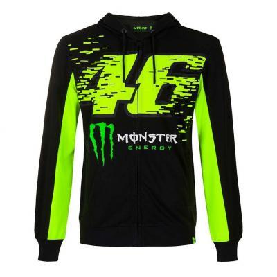 Veste zip VR46 Monza Monster sweat à capuche noir/vert