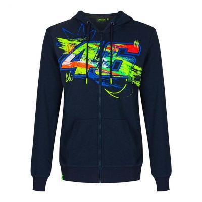 Veste zip VR46 Winter test sweat à capuche bleu