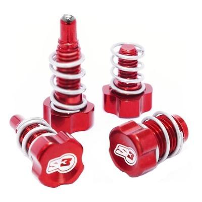 Vis de réglage leviers S3 rouge pour freinage Braktec / AJP