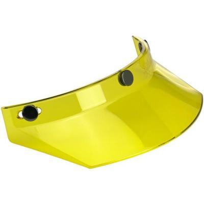 Visière de casque Biltwell à 3 pressions transparente jaune