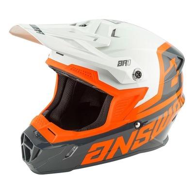 Visière de casque cross Answer AR1 Voyd charcoal/gris/orange