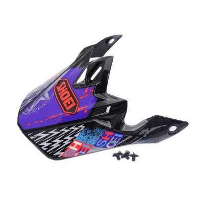 Visière de casque Shoei VFX-W Krack TC2 violet/rouge/noir