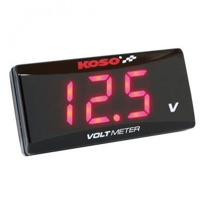 Voltmètre Koso Super Slim rouge