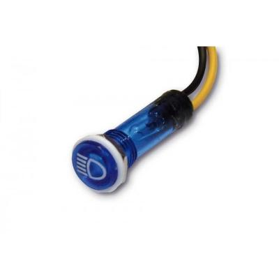 Voyant lumineux Brazoline Ø 12 mm bleu pour phare