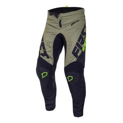 Pantalon cross First Racing Data Evo noir/kaki/jaune fluo