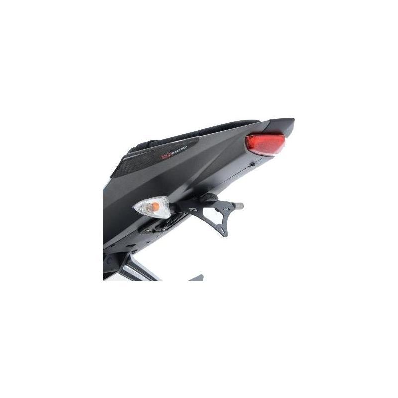 Support de plaque d'immatriculation R&G Racing noir Kawasaki ER-6 12-16