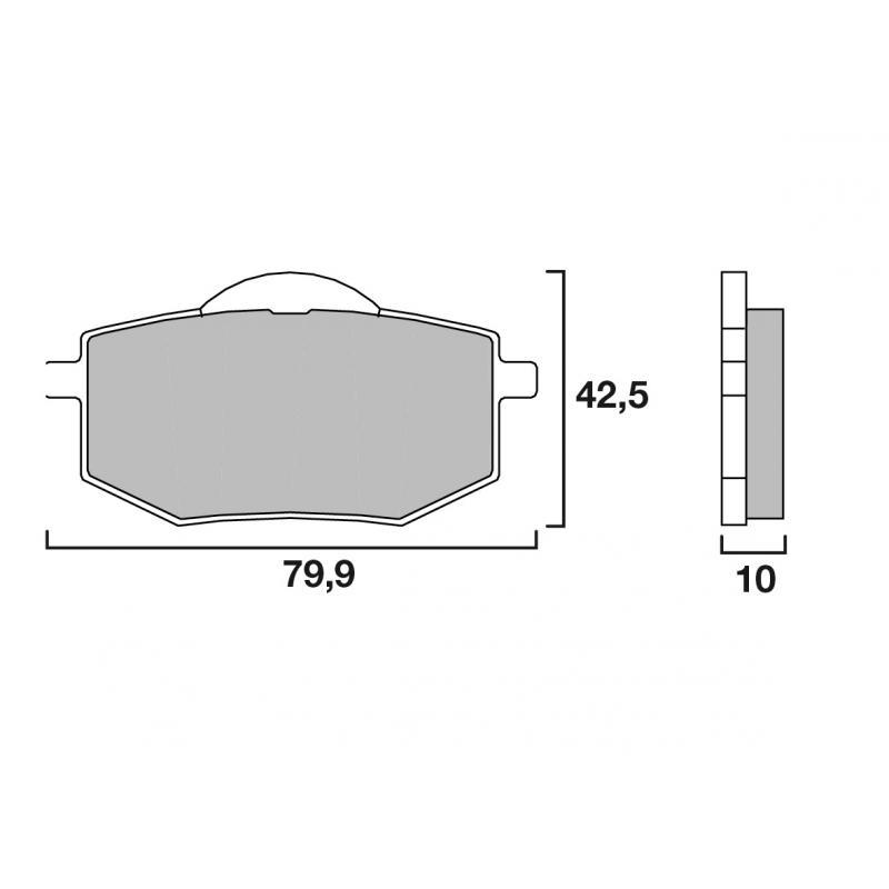 Plaquettes de frein Brembo carbone-céramique 07YA1909