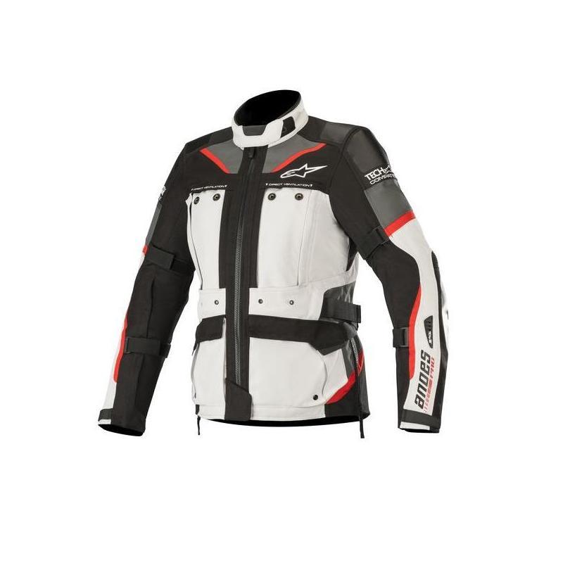 Veste textile femme Alpinestars Stella Andes Pro Drystar Tech-Air gris/rouge/noir