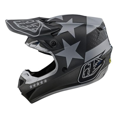 Casque cross Troy Lee Designs SE4 Polyacrylite Freedom noir/gris