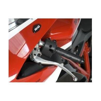 Caches orifices de rétroviseur R&G Racing noirs Ducati 848 08-10
