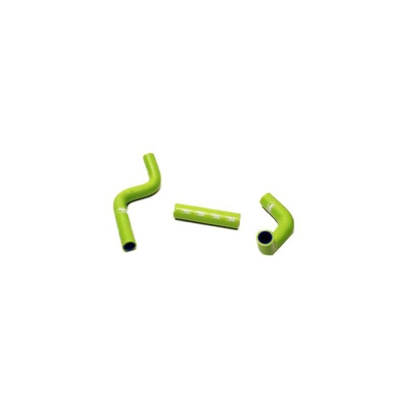 Durites de radiateur Samco Sport type origine Kawasaki 110 KLX 02-13 vert (3 durites)