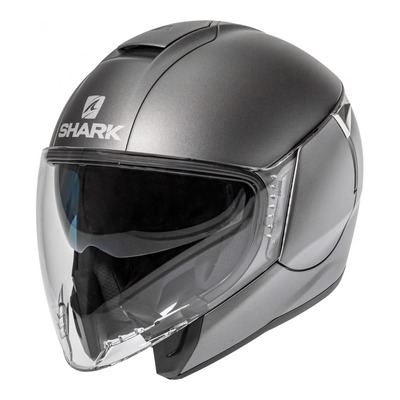 Casque jet Shark Citycruiser Blank Mat anthracite