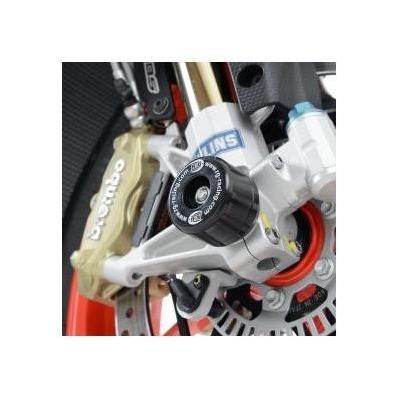 Tampons de protection de fourche R&G Racing noirs Aprilia RSV4 RR 15-17