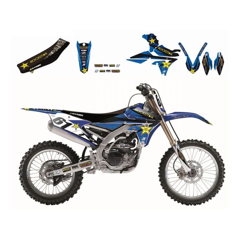 Kit déco + Housse de selle Blackbird Rockstar Energy Yamaha 250 YZ 02-14