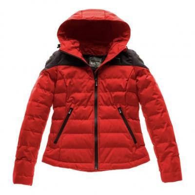 Blouson textile femme Blauer Easy Winter Women 2.0 rouge/bleu