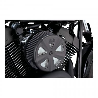 Cache filtre à air naked crown rond Ø 139,7mm (5,5') fixation vis centrale Harley Davidson noir