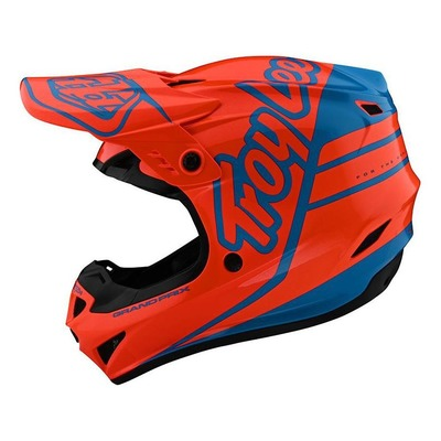 Casque cross enfant Troy Lee Designs GP Polyacrylite Silhouette orange/cyan
