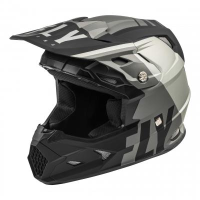 Casque cross Fly Racing Toxin Mips Transfer gris/noir mat
