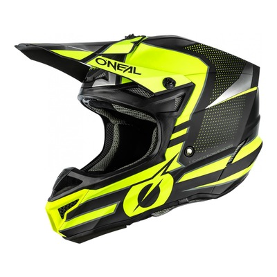 Casque cross O'Neal 5SRS Polyacrylite Sleek noir/jaune fluo