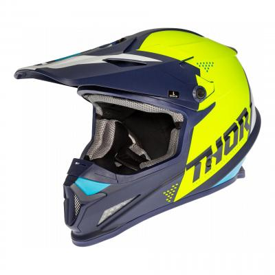 Casque cross Thor Sector Blade navy/acide