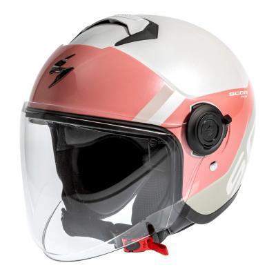 Casque jet Scorpion Exo-City Sympa rose/blanc/gris