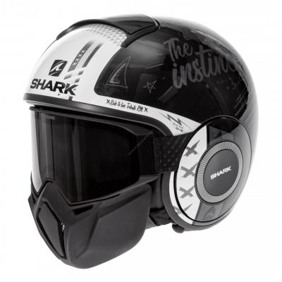Casque jet Shark Street-Drak Tribute RM noir/anthracite/blanc