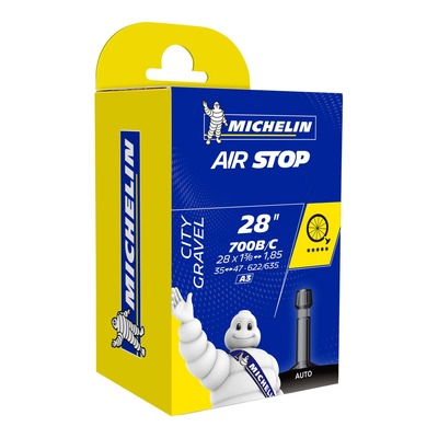 Chambre à air vélo Michelin Air Stop 700 x 35/47C/B A3 Schrader 34mm