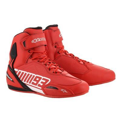 Chaussures moto Alpinestars Austin Marc Marquez rouge/blanc
