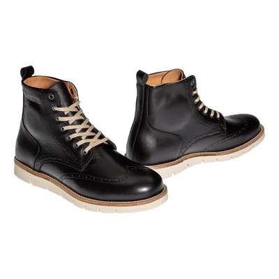 Chaussures moto Helstons Holey Cuir Aniline noir