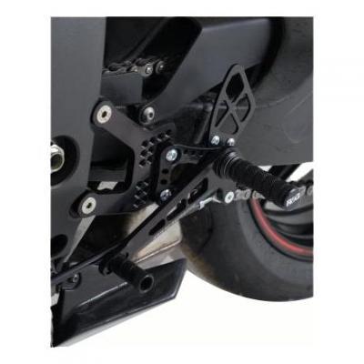 Commandes reculées R&G Racing noir selection inversée Kawasaki ZX-6R 05-13