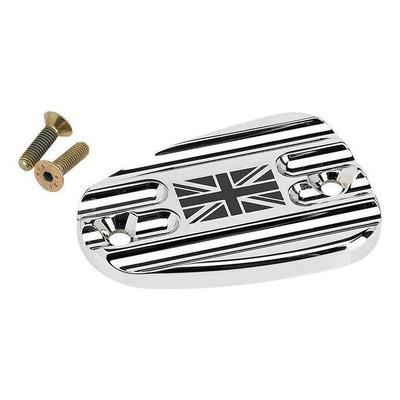 Couvercle de maître cylindre de frein AV Joker Machine Union Jack chromé Triumph Thruxton 1200 16-20