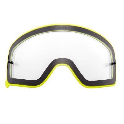 Écran O'Neal pour masque B 50 clair avec cadre jaune