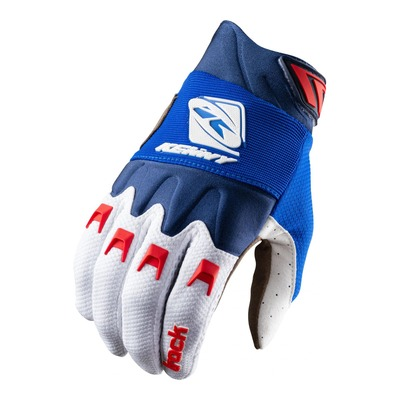 Gants cross Kenny Track bleu/blanc/rouge