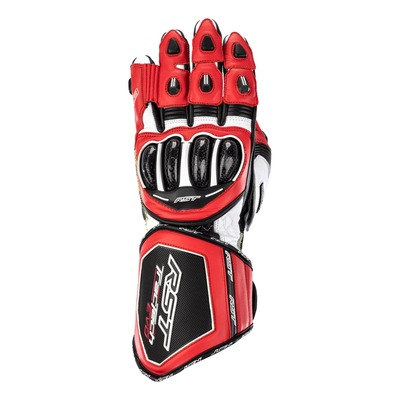 Gants cuir RST Tractech Evo 4 rouge/blanc/noir
