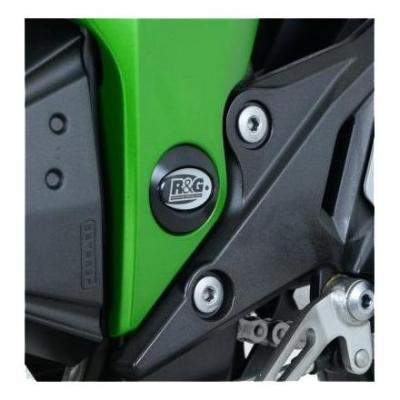 Insert de cadre gauche R&G Racing noir Kawasaki Z800 13-17