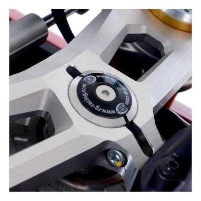 Insert écrou de direction R&G Racing noir Ducati Panigale 1299 V4 2018