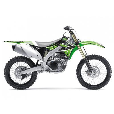 Kit déco Blackbird Racing Dream 4 Kawasaki 450 KX-F 12-15 vert/blanc/noir