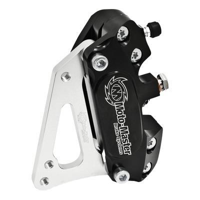 Kit étrier de frein 4 pistons noir avec adaptateur pour supermotard Honda CRF 450 X 05-14
