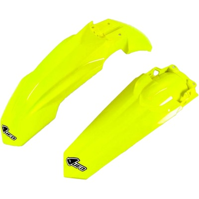 Kit garde-boue avant et arrière UFO Honda CRF 450R 17-18 jaune fluo